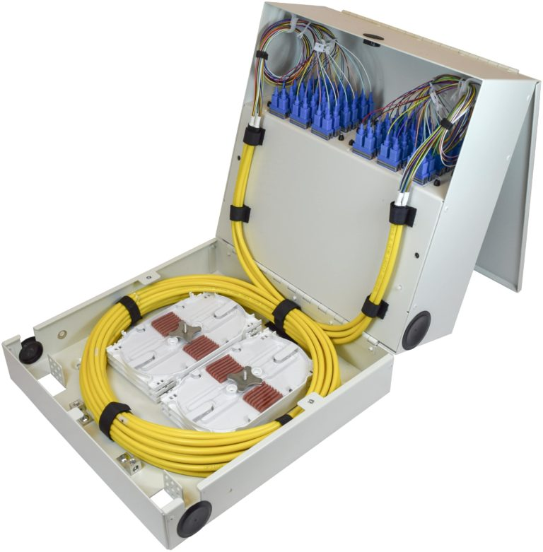 Tri-Panel Tri Panel Fold Tri-Fold Fiber Optic Wallmount Wall Mount Enclosure Patch Panel Splice